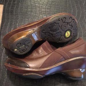 Jambu brown slip on clogs